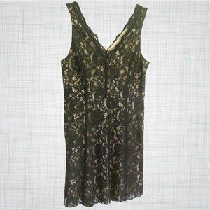 Lace v-neck Anne Taylor dress